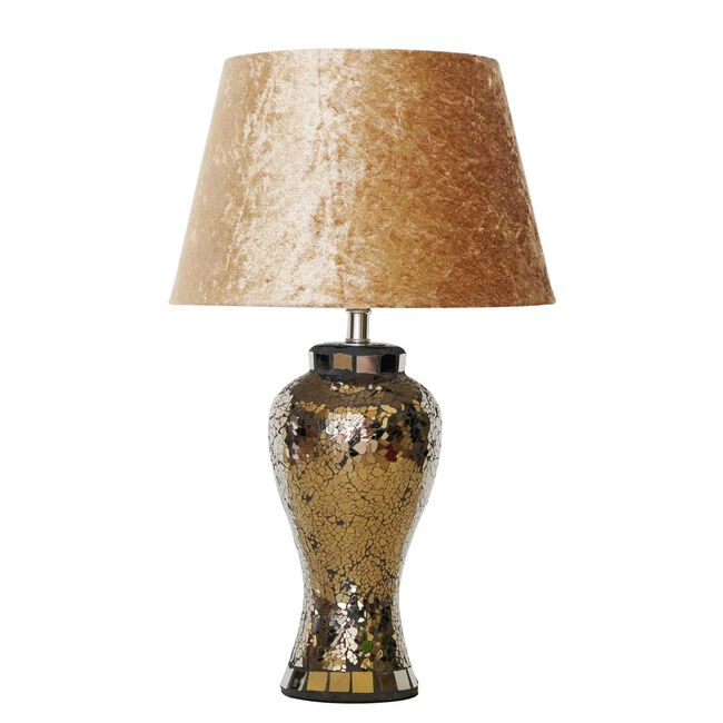 Gold Mosaic Table Lamp