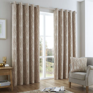 Distressed Chenille Natural Curtain