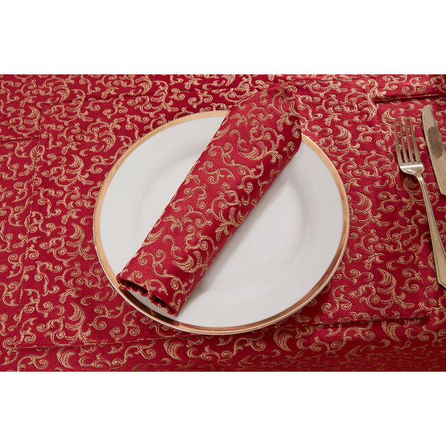 Versailles Placemat Red/Gold - 2 Pack