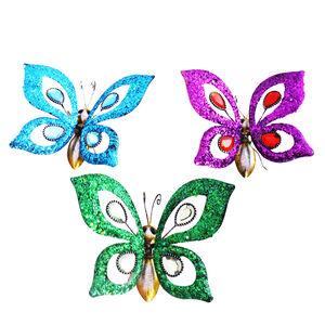 Glitter Jewel Butterflies Garden Wall Art Set of 3