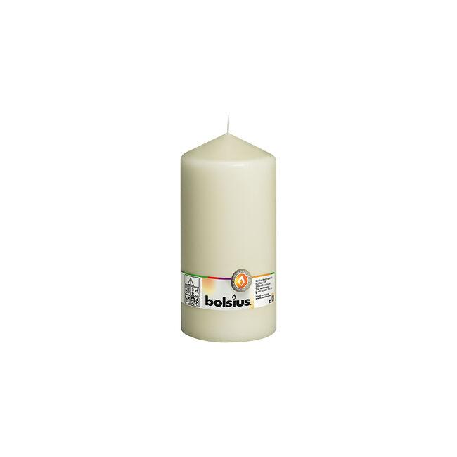 Bolsius Ivory Pillar Candle 20cm x 10cm