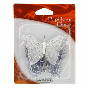 Butterflies Curtain Clips White 2 Pack