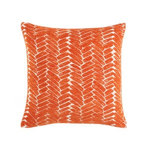 Night Peacock Cushion 45x45cm - Orange