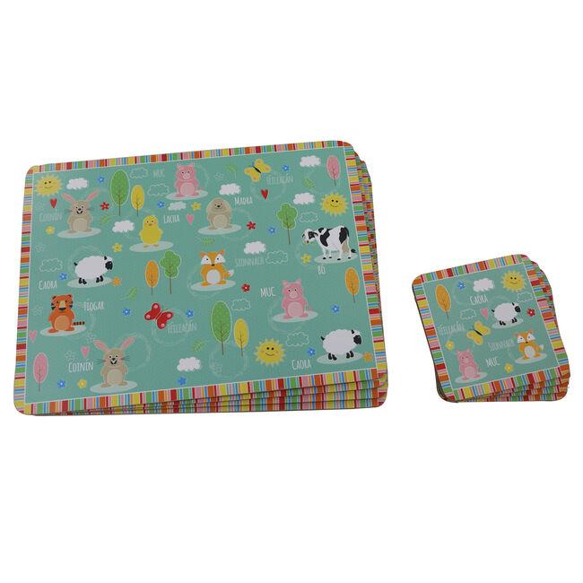Ainmhithe Mats & Coasters 4Pk