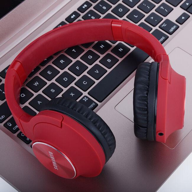 Sonarto WH195  Headphones - Red