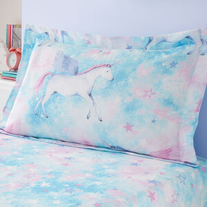 Mystical Unicorn Oxford Pillowcase Pair - Multi