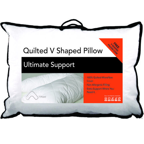 Quilted V Shape Support Pillow