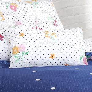 Draped Floral Cushion 30x50cm