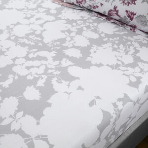 NICHOLA GREY/PINK Single Fitted Sheet