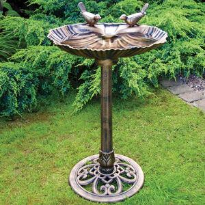 Bronze Effect Double Bird Bath