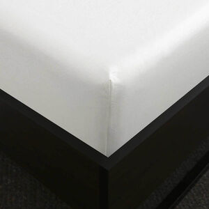 SINGLE FITTED SHEET 200 Threadcount Cotton White