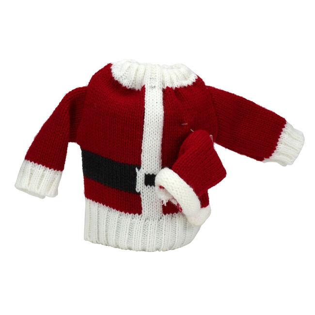 Knitted Wine Bottle Santa Suit