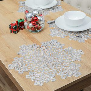 Snowflake Placemat - Silver