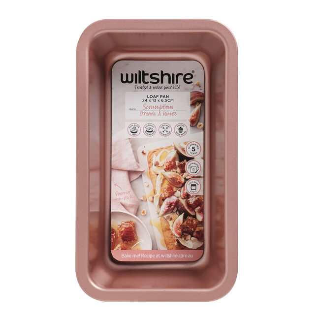 Wiltshire Loaf Pan 24x13cm - Rose Gold