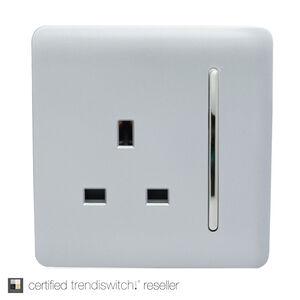 Trendi 13 Amp 1 Gang Switched Socket - Silver