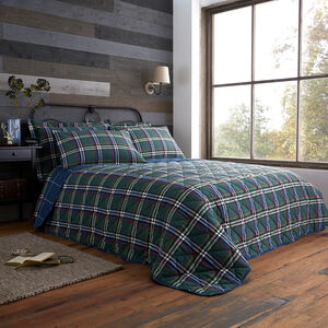 Brushed Cotton Rolle Check Bedspread 200 x 220cm