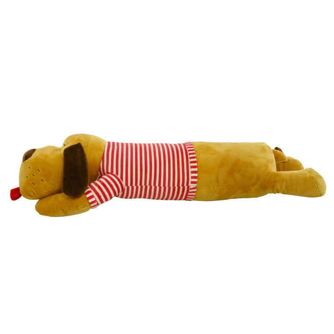 Lying Dog Red Cushion 70cm