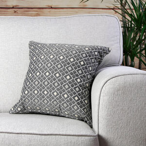 Mairead Diamond Natural Cushion 45cm x 45cm