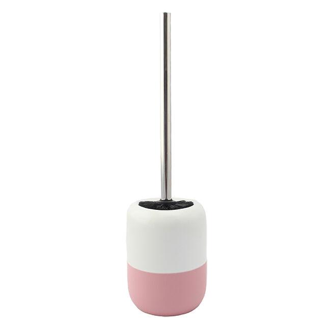 Dipped Glaze Toilet Brush with Holder - Blush
