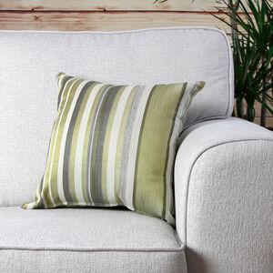 Ruth Stripe Green Cushion 45cm x 45cm