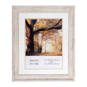 Wren Photo Frame with Mount 12x16""