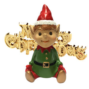 Santa's Elf & Merry Christmas Cake Toppers