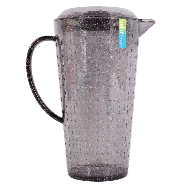 Glitter Pitcher with Lid - Grey
