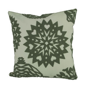 Embroidered Star Cushion Silver 45cm x 45cm
