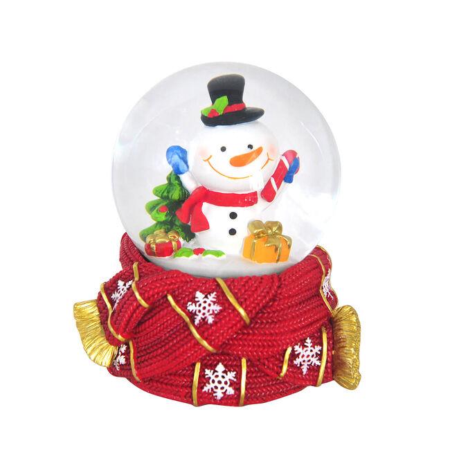 Snowman On Scarf Musical Snow Globe