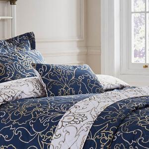 Antoinette Navy Cushion 30cm x 50cm