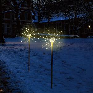 Set of 2 Fire Cracker Path Lights