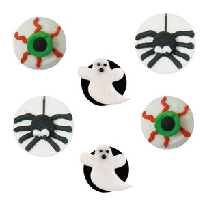 Halloween Ghoulish Handmade Icing Cake Toppers