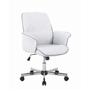Elsa Office Chair Grey with Contrast Piping