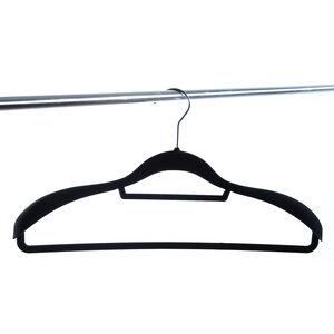Skinny Velvet Coat Hanger - Black