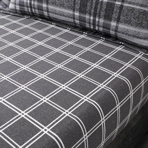 BRUSHED COTTON BOOTHMAN CHECK Single Fitted Sheet