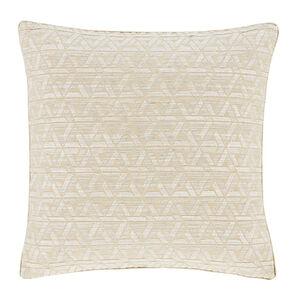 Triangles Cushion Natural 58cm x 58cm