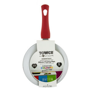 Tower Ceramic Red Frying Pan 20cm