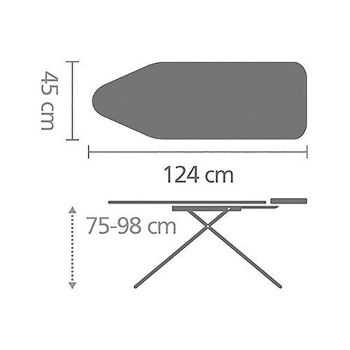 Brabantia Ironing Board 124x45cm - Black Denim