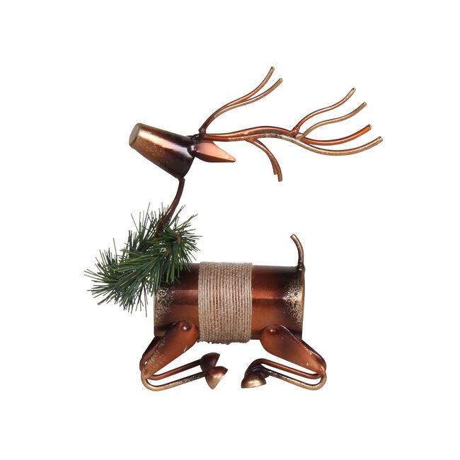 Sitting Reindeer Decoration 16cm