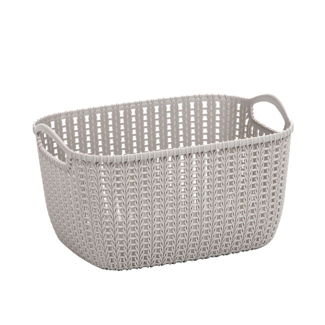 Knit Charcoal 9L Storage Organiser