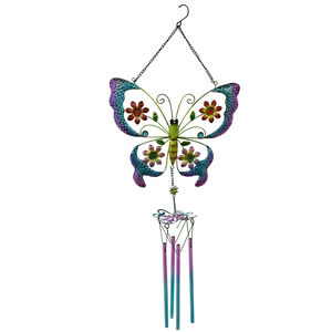 Floral Butterfly Garden Wind Chime