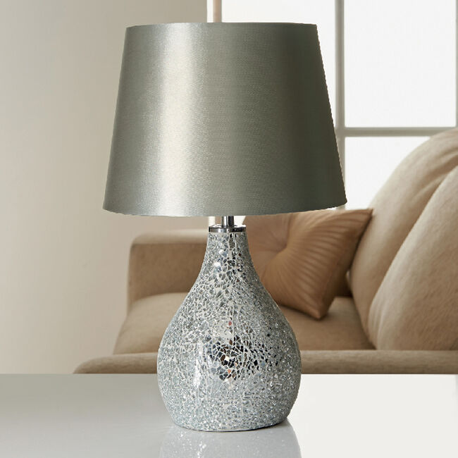 Crackle Mosaic Table Lamp