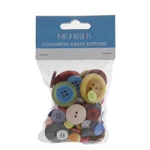 Pins N Needles Colourful Craft Buttons