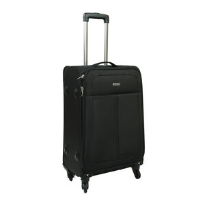 Medium Black Lightweight Suitcase
