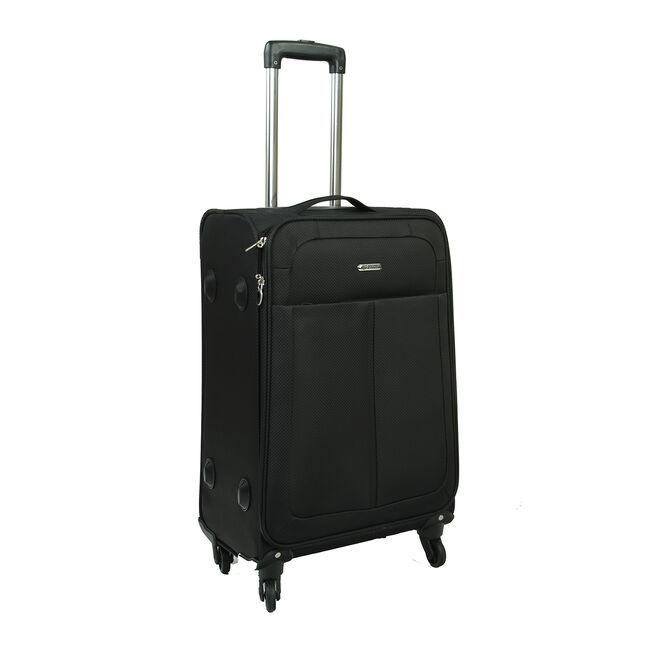 Medium Black Lightweight Suitcase