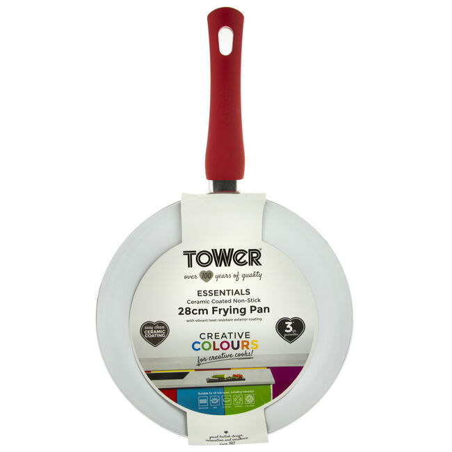 Tower Ceramic Red Frying Pan 28cm