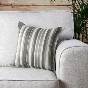 Ruth Stripe Grey Cushion 45cm x 45cm