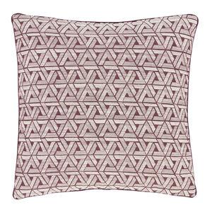 Triangles Cushion Purple 58cm x 58cm