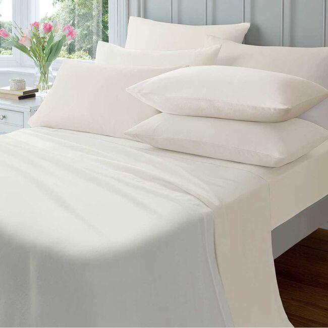 SINGLE FLAT SHEET  Flannelette Cream