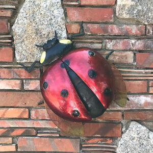 Large 3D Ladybird Garden Wall Art